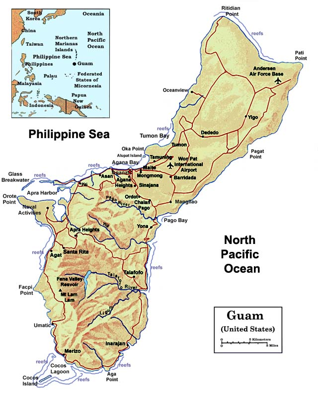 Maps – The US Pacific Island Territory of Guam