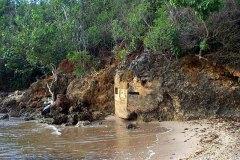 Japanese WWII shore defense bunkers at Apaca Beach, Santa Rita, Guam.
