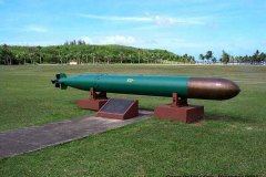 World War II torpedo at Asan War in the Pacific Memorial Park, Asan, Guam.