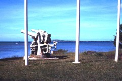 Gaan Point War in the Pacific National Park - Bunkers under Japanese shore defense Guns in Santa Rita.