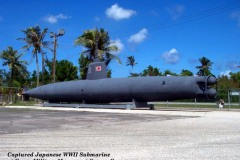 Captured Japanese Mini-Submarine - Originally ran aground in shallow water off Guam's East coast during the American invasion in 1944.