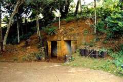 Japanese WWII ammunition and supply storage caves in what is now Hagatana.