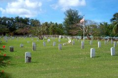 Navy Cemetery - Constructed by the U.S. Navy Guam Government in 1902 for veterans (not necessarily US) dating to the Spanish American War.