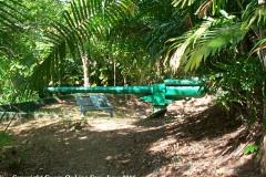 Piti Guns - Three Japanese 14 mm shore artillery guns sit in the jungle hills behind the village of Piti, Guam.